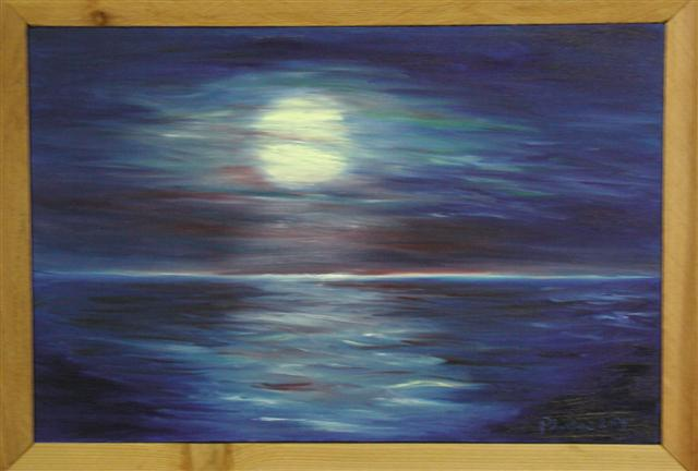 Blue Moon (from Wall of Bay City Arts Center)